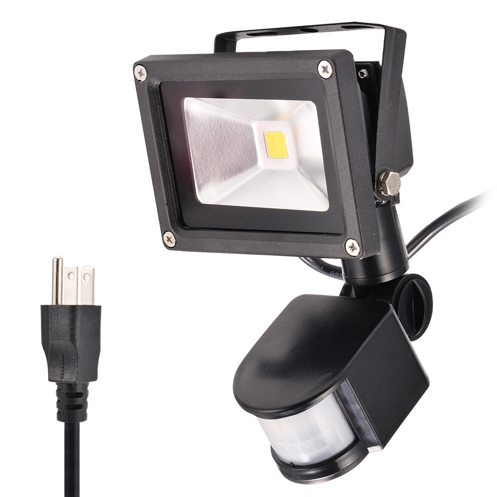 20W daylight white 2700-3200k Motion Sensor LED Flood Light with 3-Plug,American... by All clearance