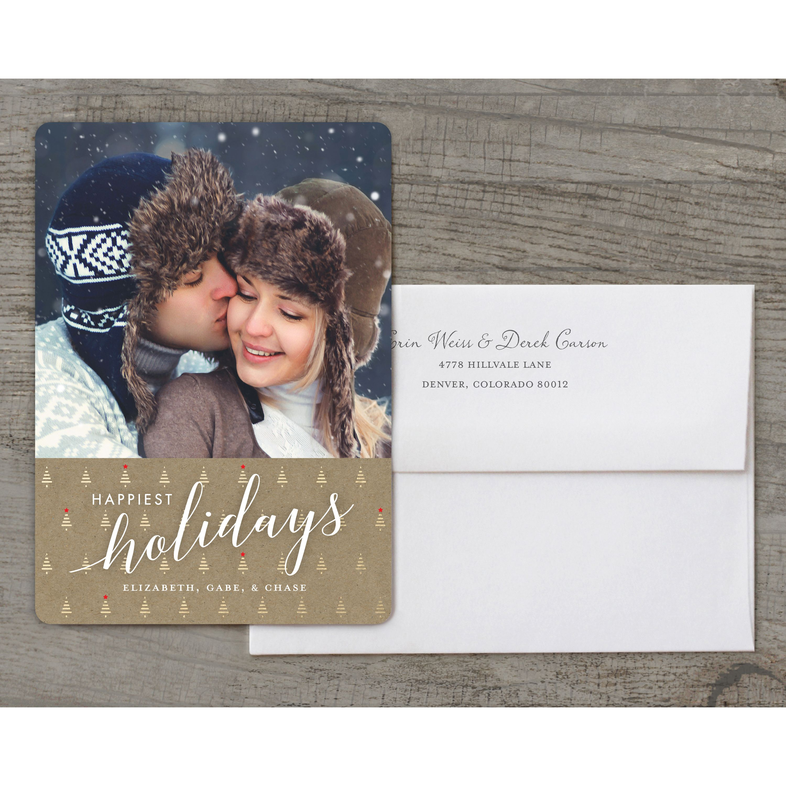 Happiest Holiday Trees - Deluxe 5x7 Personalized Holiday Holiday Card