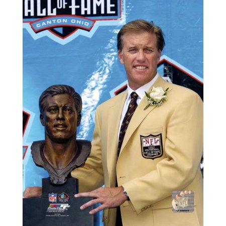 John Elway Hall of Fame with Bust Photo (John Elway Hall Of Fame)