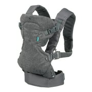 Infantino Flip 4-in-1 Carrier - Ergonomic, Convertible, Face-in and Face-Out, Front and Back Carry for Newborns and Older Babies 8-32 lbs, Gray