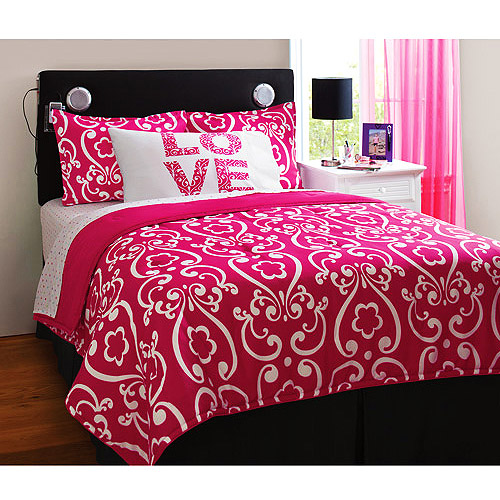 your zone drama reversible bedding set with statement pillowcase