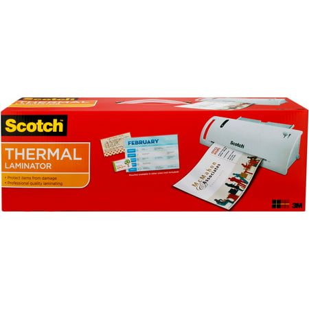 Scotch Thermal Laminator Value Pack, Includes 20 Bonus (Roller Pouch Laminator)