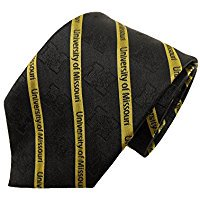 NCAA Officially Licensed Missouri Mizzou Tigers Silk Prep  Necktie