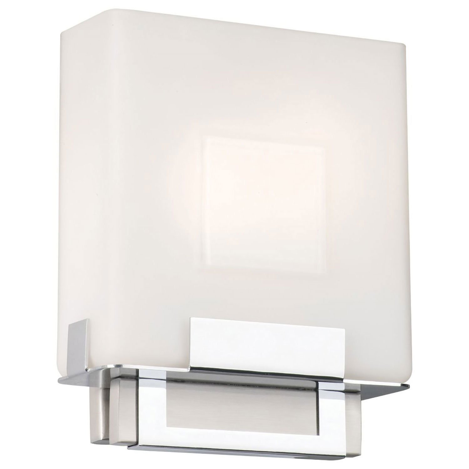 Phillips Forecast Lighting F544336E1 Square Bathroom Sconce Light Satin Nickel  sc 1 st  Walmart & Phillips Forecast Lighting F544336E1 Square Bathroom Sconce Light ...
