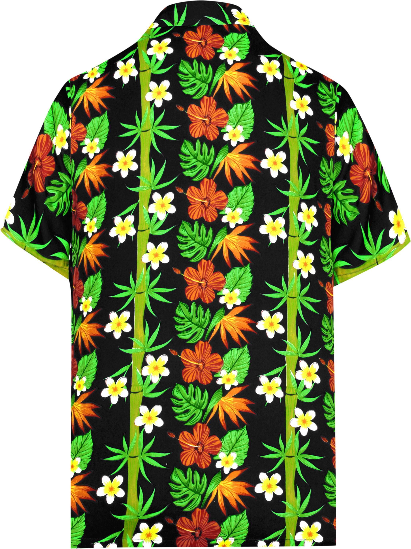 d7d4bbca HAPPY BAY - Hawaiian Shirt Mens Beach Aloha Camp Party Casual Holiday  Tropical Shirt Bamboo Tree Print - Walmart.com