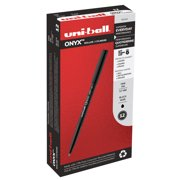 Uni-ball ONYX Rollerball Pens, Fine Point (0.7 mm), Black, 12 Count