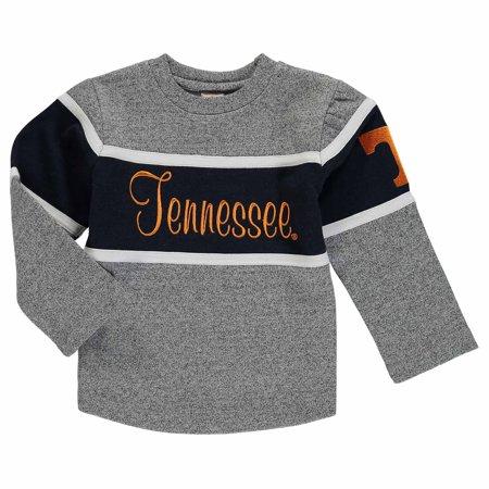 Tennessee Volunteers Crew Sweatshirt - Tennessee Volunteers Girls Toddler Crew Sweatshirt - Charcoal