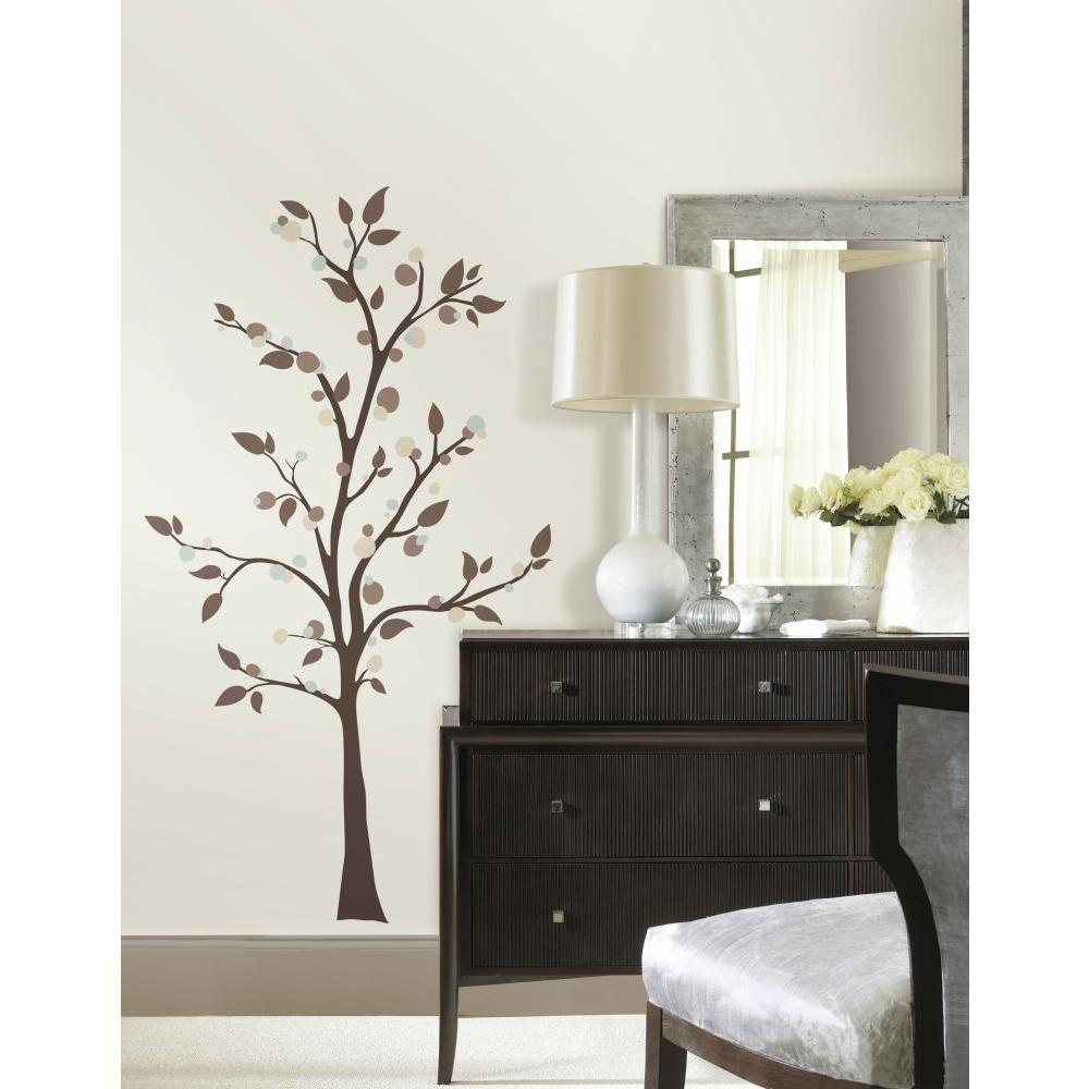 MOD TREE GianT Wall Mural Decals Brown Branches Leaves Room Decor Stickers