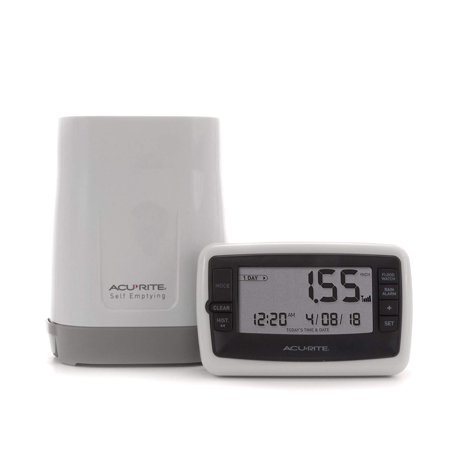 00899 Wireless Rain Gauge with Self-Emptying Collector, Rainfall measurement in inches or millimeters with history By AcuRite ()