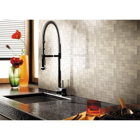 Stainless Backsplash - Art3d Peel and Stick Stainless Steel Metal Backsplash Tile for Kitchen / Bathroom, 12