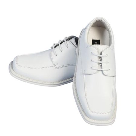 Angels Garment Little Boys White Lace Faux Leather Dress Shoes 12 Kids