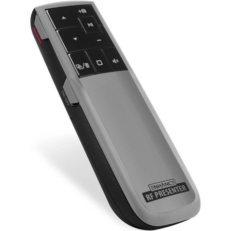 Enhance Rf Presenter Computer Presentation Remote Control Clicker With Laser Pointer   Works Great For Powerpoint And Keynote Presentations On Windows And Mac Os X Operating Systems