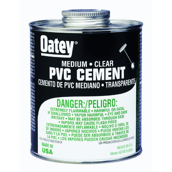 Oatey Medium-Bodied Clear PVC Cement