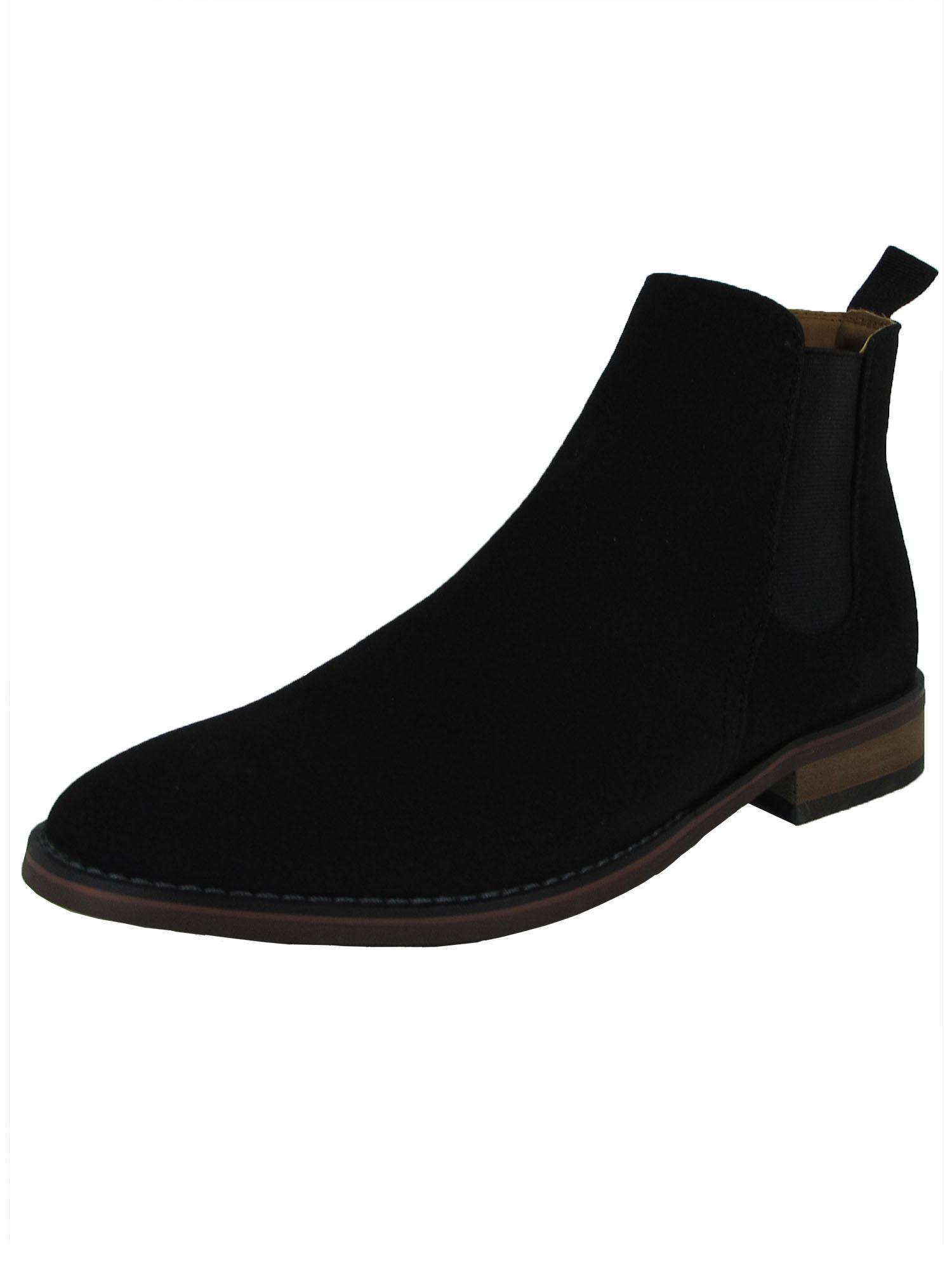 Madden By Steve Madden Mens M-Vince Slip On Chelsea Boot Shoes, Black, US 7.5
