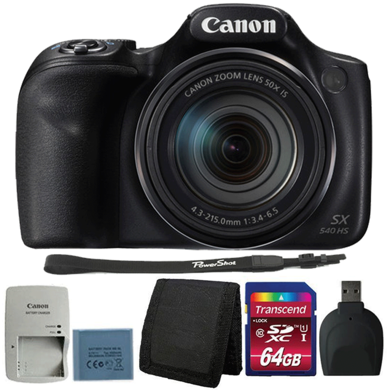 Canon Powershot SX540 HS 20.3MP Digital Camera with Accessory Bundle
