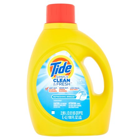 Tide Simply Clean & Fresh Refreshing Breeze Liquid Laundry Detergent - 100 fl oz