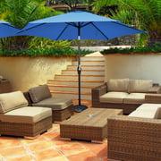 Costway 9Ft Outdoor Market Patio Table Umbrella Push Button Tilt Crank Lift Burgundy