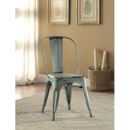 4 Chairs Coaster - Coaster 105614 Home Furnishings Metal Chair (Set of 4), Blue