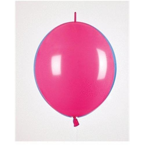 Mayflower Balloons 29989 6 Inch Link-O-Loon Deluxe Fuchsia Pack Of 100