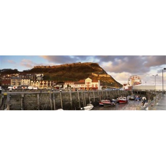Speed Boats At A Commercial Dock  Scarborough  North Yorkshire  England  United Kingdom Poster Print by  - 36 x 12 - image 1 of 1