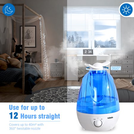 WIPALO Ultrasonic Humidifier Warm Mist Baby Room 3.5L 12 Hours Very (Best Cool Mist Humidifier For Baby)