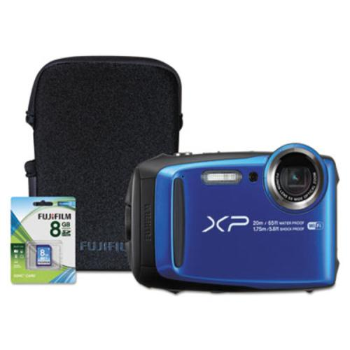 Fuji 600018382 Finepix Xp120 Weatherproof Digital Camera, 16.4mp, Blue