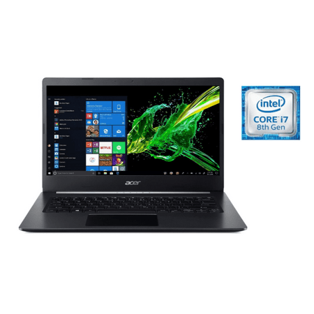 Acer Aspire 5, 14u0022 Full HD, 8th Gen Intel Core i7-8565U, 8GB DDR4, 512GB PCIe NVMe SSD, Windows 10 Home, A514-52-78MD