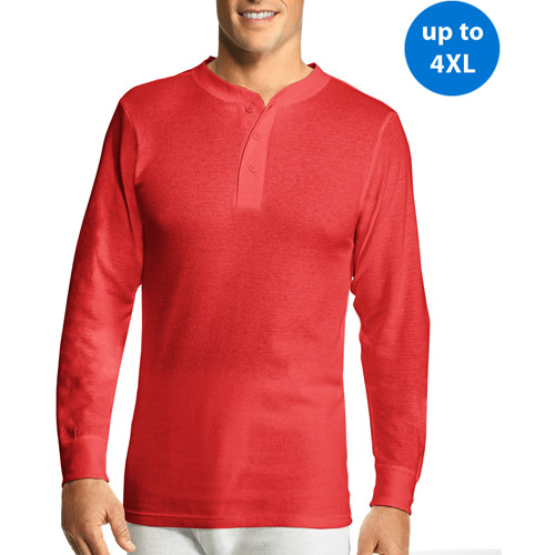 Hanes Big Men's X-Temp Thermal Underwear Henley