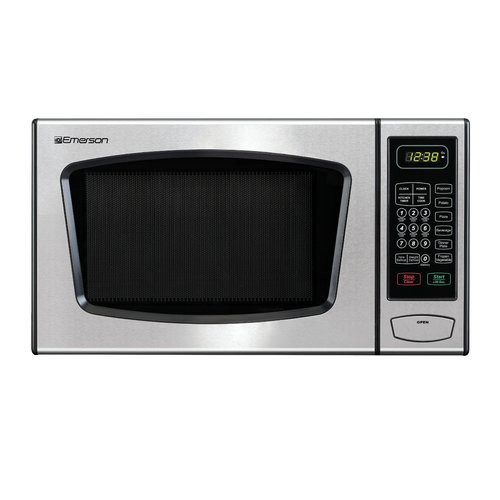 Emerson 0.9 CU. FT. 900 Watt Touch-Control Microwave Oven, Stainless Steel, MW8991SB by Emerson Radio Corp.