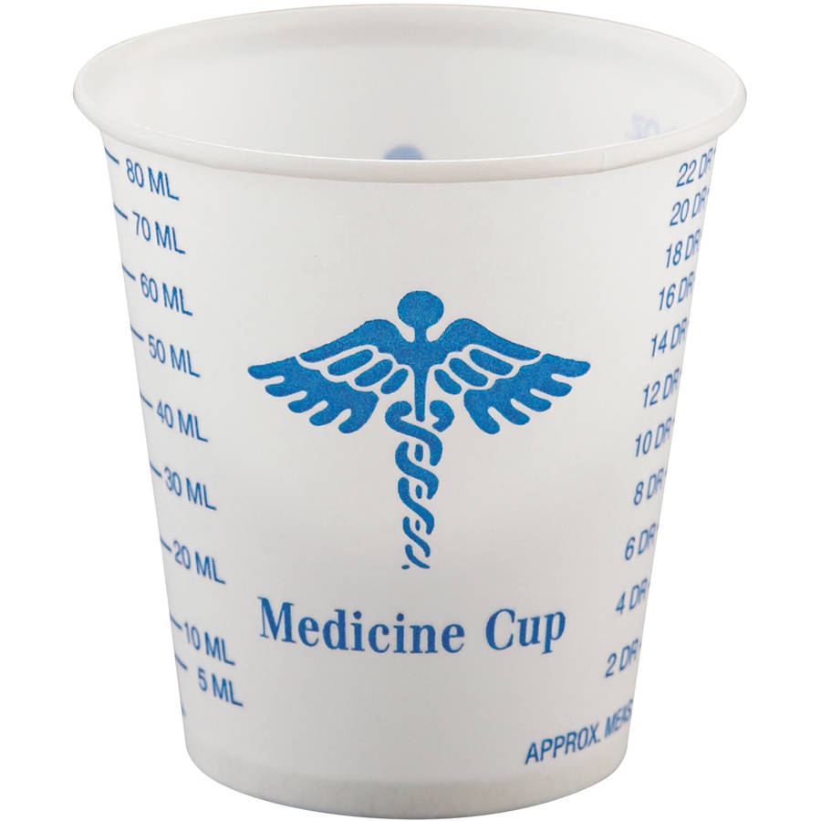 SOLO Cup Company Paper 3 Oz Medical & Dental Graduated Cups, White & Blue, 5000 count