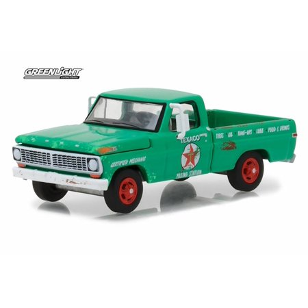 1970 Ford F-100 Pickup Texaco Gas, Green - Greenlight 41040/48 - 1/64 Scale Diecast Model Toy Car (Gas Toy Cars)