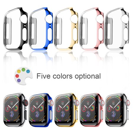 Full Housing Cover Case (For Apple Watch Series 4 44mm Full Body Cover Snap-on Case With Screen Protector Black)