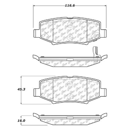 Go-Parts OE Replacement for 2018-2018 Jeep Wrangler JK Rear Disc Brake Pad Set for Jeep Wrangler