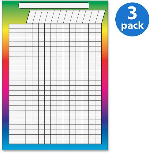 (3 Pack) Ashley, ASH10097, Magnetic Incentive Chart, 1 Each