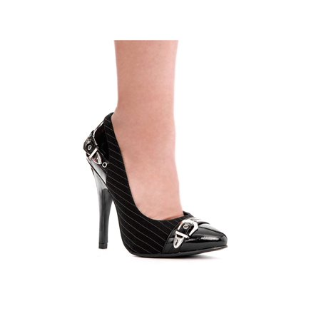 Ellie Shoes E-511-Shane 5 Heel With Tuxedo Fabric Upper & Buckle 6 / Black