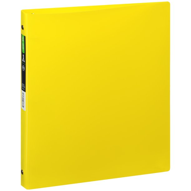 """PEN + GEAR™ 1"""" Non-View 3-Ring Poly Binder, Round Ring"""