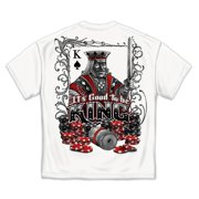 Good To Be King Playing Cards Gambling Poker T-Shirt by , White