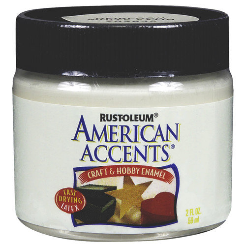 Rustoleum American Accents Blossom White Craft & Hobby Brush Enamel Paint 20964 - Pack of 6