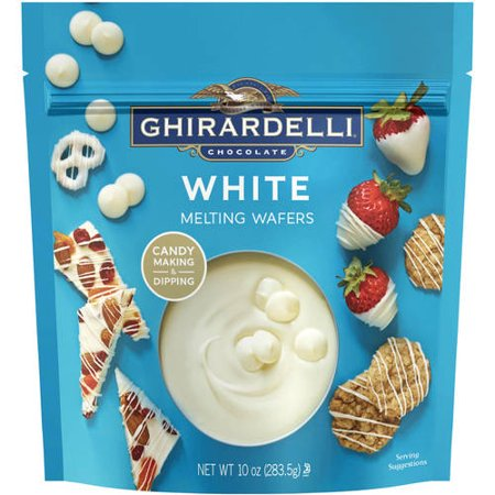 Ghirardelli Chocolate White Chocolate Melting Wafers Candy Coating