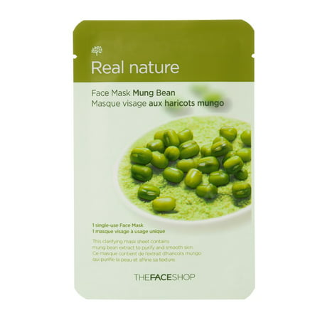 The Face Shop Real Nature Mung Bean Face Mask (Best Bean Burgers Ever)