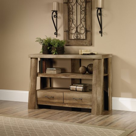 Sauder Boone Mountain Anywhere Console, Craftsman Oak Finish