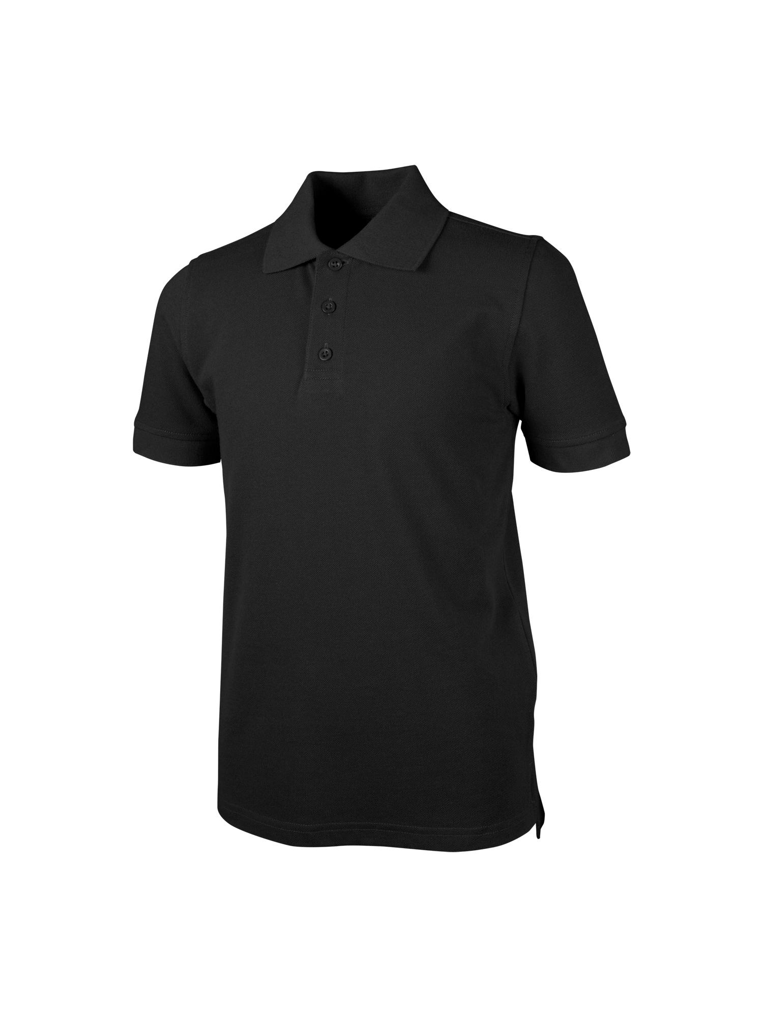 REAL SCHOOL Boys Short Sleeve Pique Polo Shirt