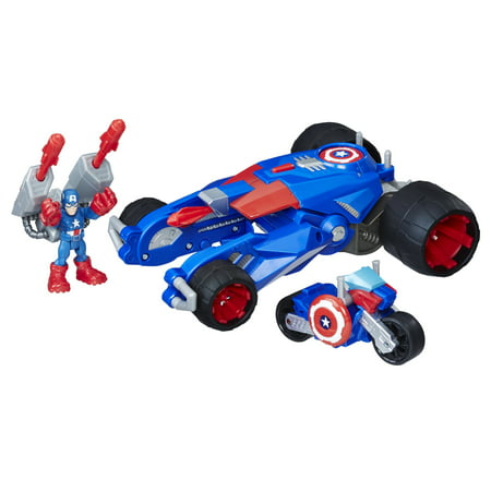 Playskool Heroes Marvel Super Hero Adventures Captain America's Victory Launcher - Super Hero Females