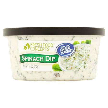 Fresh Food Concepts Spinach Yogurt Dip, 11 oz - Walmart.com