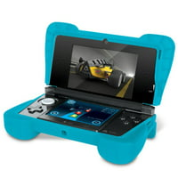 "Comfort Grip for Original 3DS (Not the ""NEW"" version) - Silicone Protective Cover Gives Your 3DS Armor - (Transparent Blue)"