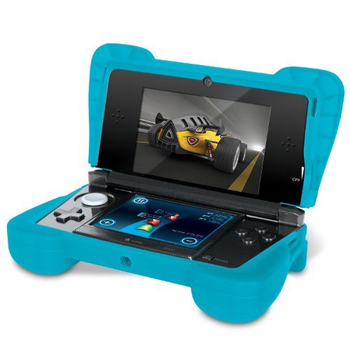 """Comfort Grip for Original 3DS (Not the """"NEW"""" version) - Silicone Protective Cover Gives Your 3DS Armor - (Transparent Blue)"""
