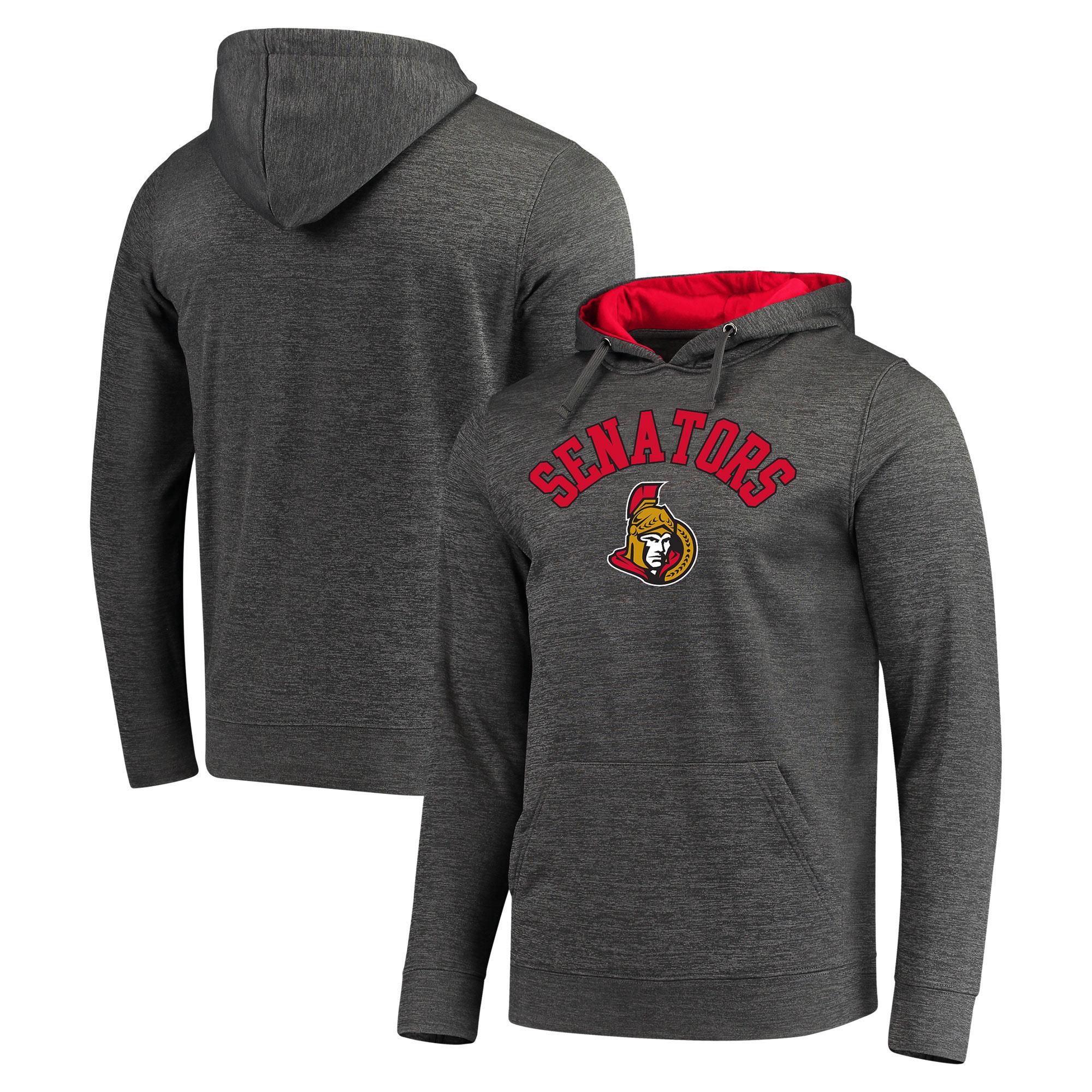 Ottawa Senators Fanatics Branded Arch Logo Pullover Hoodie - Gray