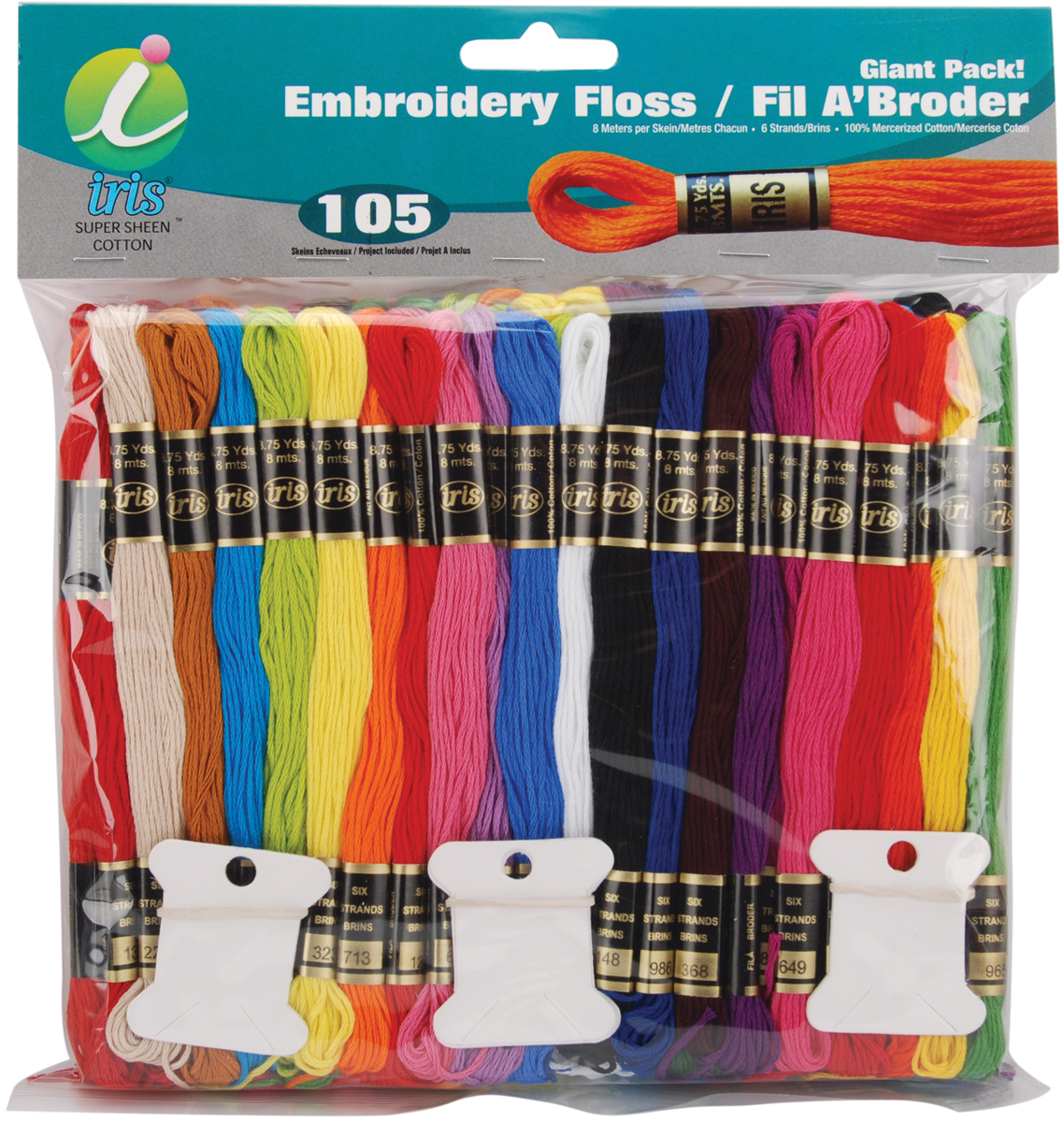 Embroidery Floss Giant Pack 8 Meters, 105/Pkg