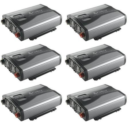 Cobra 1500W 12V DC to 120V AC Car Power Inverter, 3 Outlets and USB (6 (Cobra 1,500w Power Inverter)