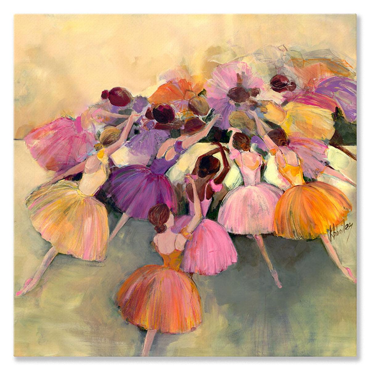 Oopsy Daisy - Canvas Wall Art Ballerina Ensemble 39x39 By Kristina Bass Bailey